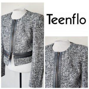 😍 JUDITH & CHARLES TEENFLO Tweed Wool Blazer